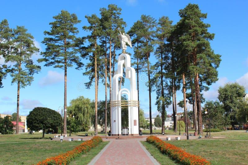 Angelo di bianco di Slavutich fotografia stock libera da diritti
