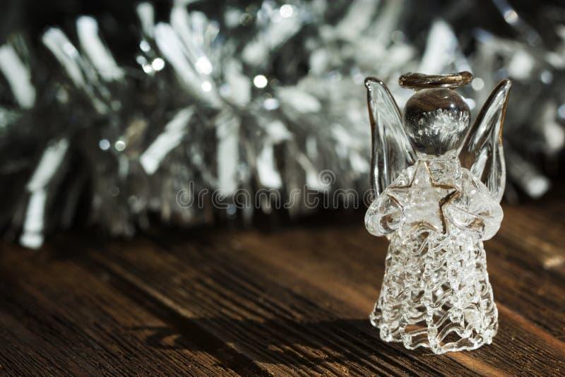 Angelo di cristallo Decorazione di nuovo anno Ornamenti di Natale, Cristo fotografie stock