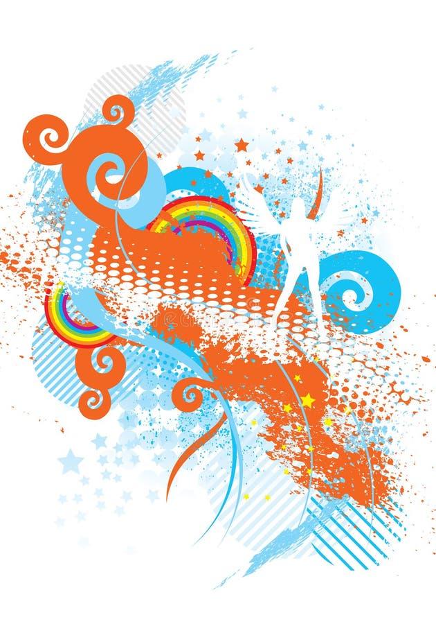 Angelo di Grunge illustrazione vettoriale