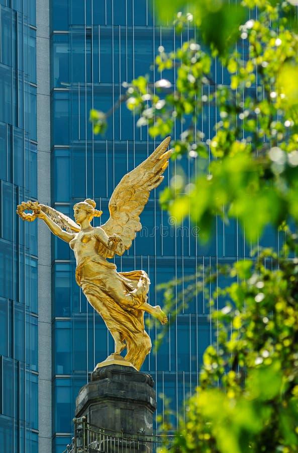 Angelo di indipendenza, Città del Messico fotografie stock libere da diritti