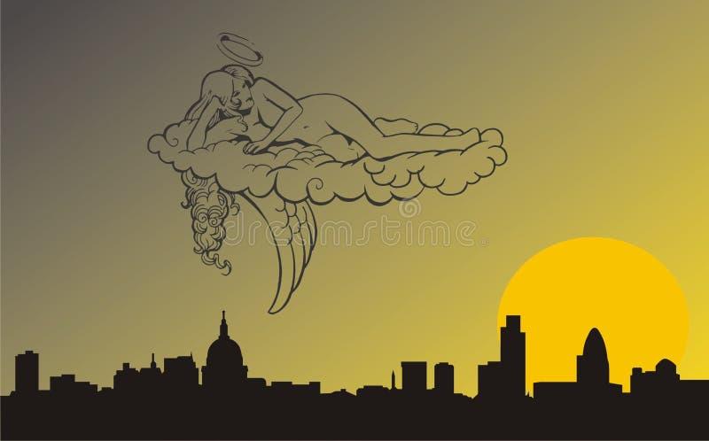 Angelo Di Notte Immagine Stock Libera da Diritti