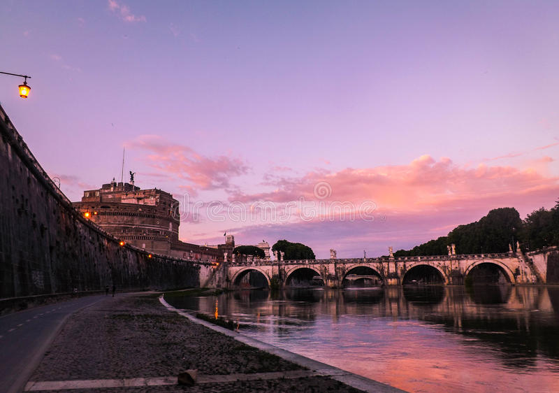` Angelo di Roma Castel Sant immagine stock