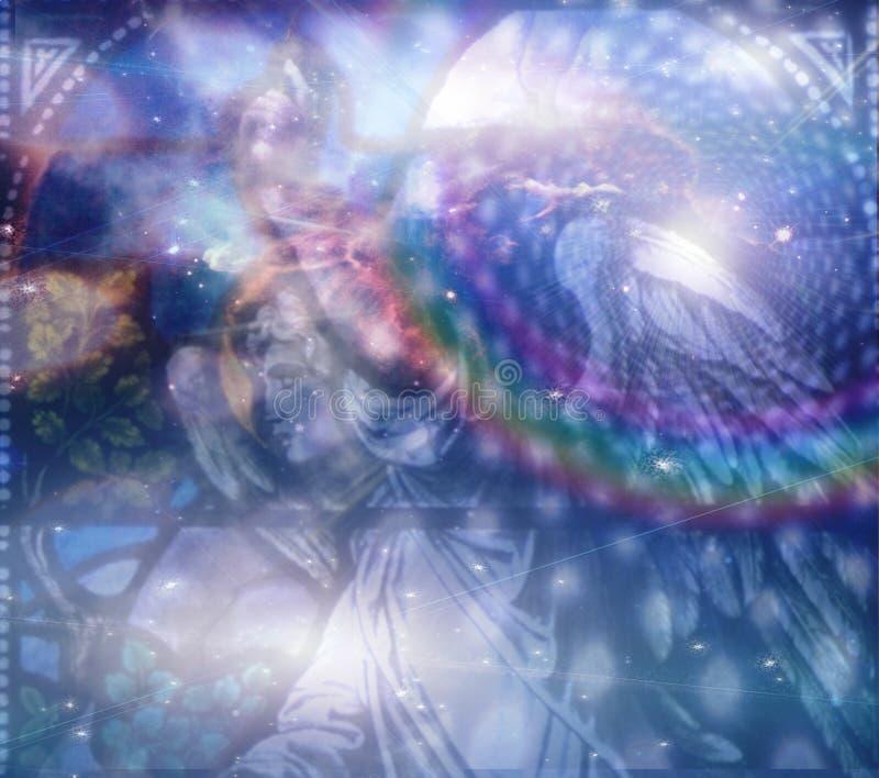 Angelo e composizione celestiale illustrazione di stock