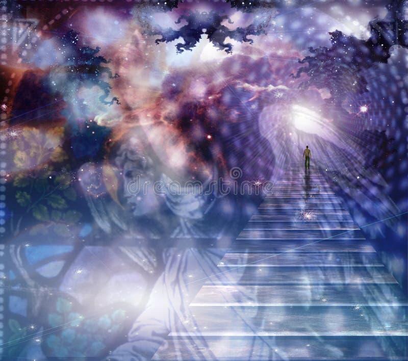 Angelo e composizione celestiale illustrazione vettoriale