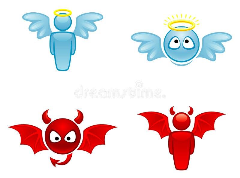 Angelo e diavolo illustrazione vettoriale