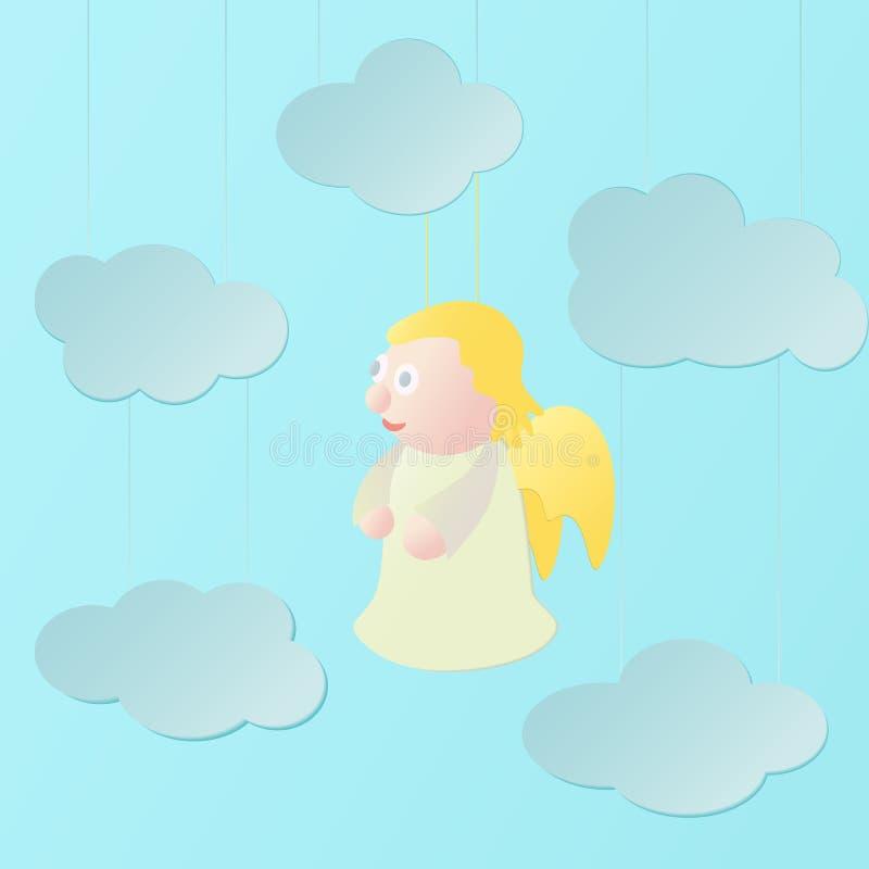 Angelo e nuvole fotografia stock libera da diritti