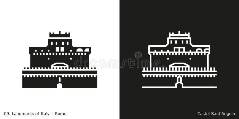 ` Angelo Icon di Castel Sant royalty illustrazione gratis