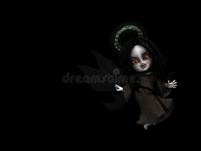 Angelo leggiadramente 1 di Goth illustrazione di stock