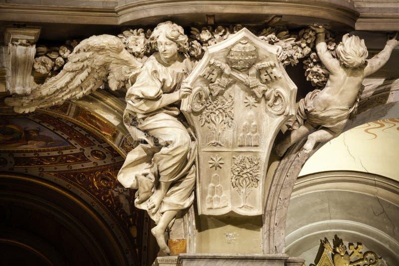 Angelo Santa Maria del Popolo Church, dettagli roma L'Italia fotografia stock
