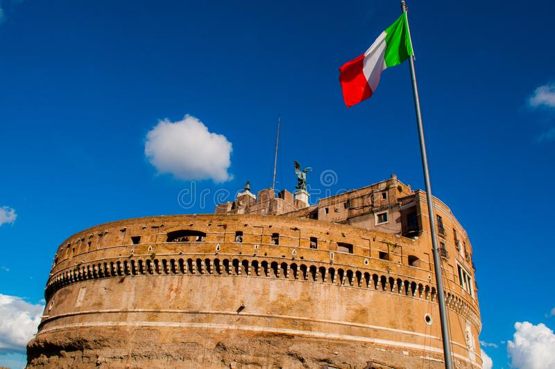 Angelo slott i Rome Italien royaltyfri fotografi