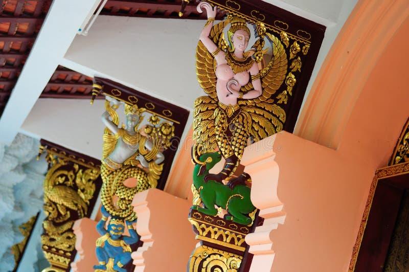 Angelo a Wat Pha Dara Bhirom Temple fotografie stock libere da diritti