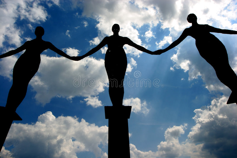 Download Angels stock photo. Image of statue, rusty, metal, silhouettes - 10106