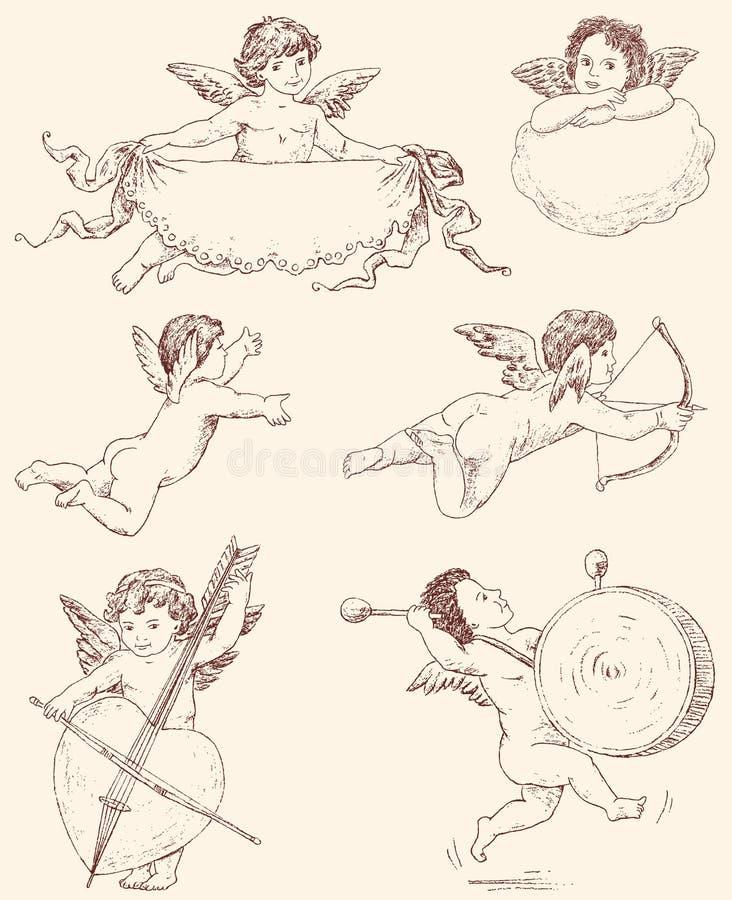 angels ilustração royalty free