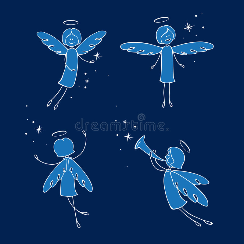 Angels royalty free illustration