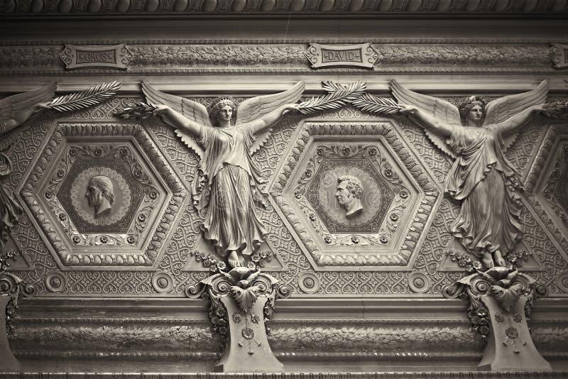 Angels. Angel moulding Paris France Louve royalty free stock photos
