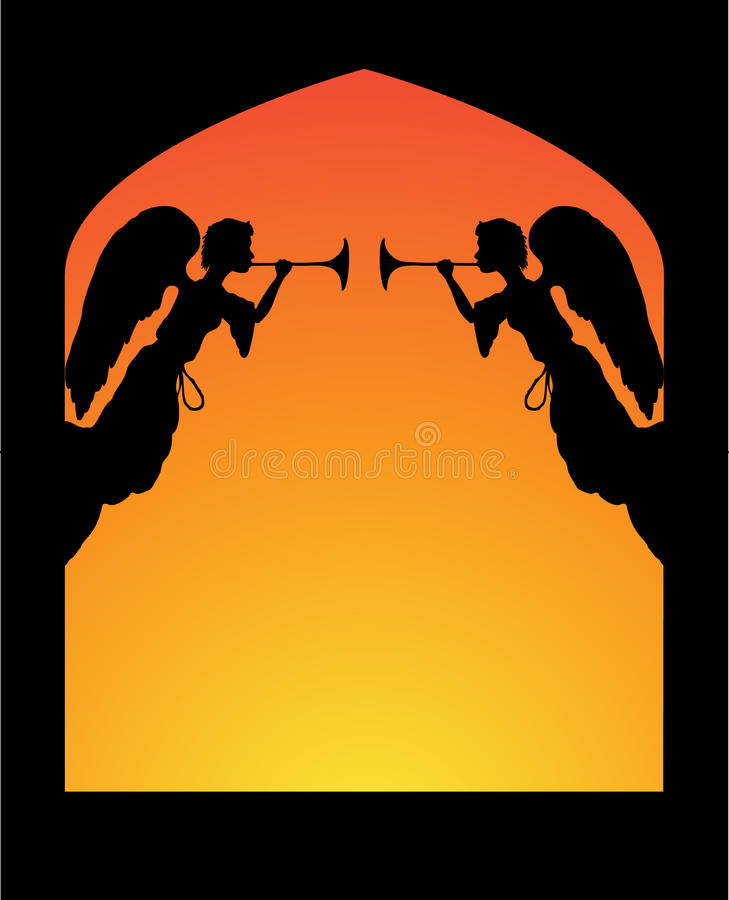 Download Angels in an Arch stock illustration. Illustration of announcement - 16663738