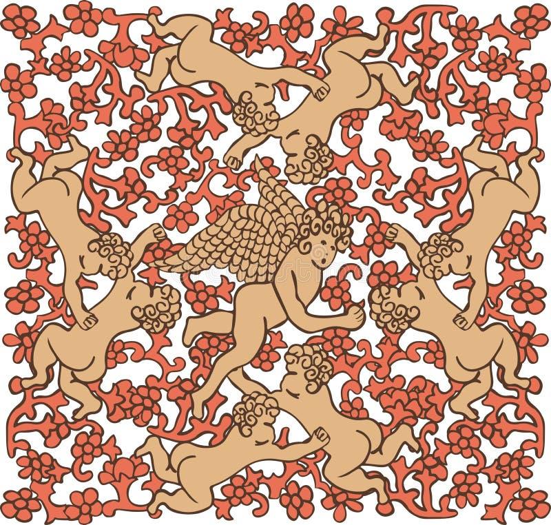 Download Angels in ceramic tile stock vector. Image of child, fallen - 25461710