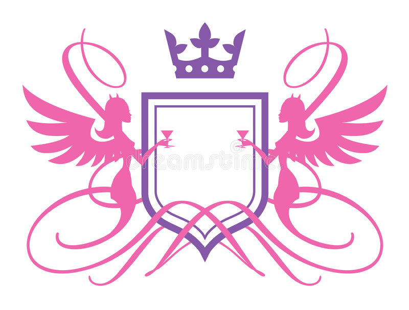 Download Angels Or Devils stock vector. Image of decoration, beautiful - 3764011