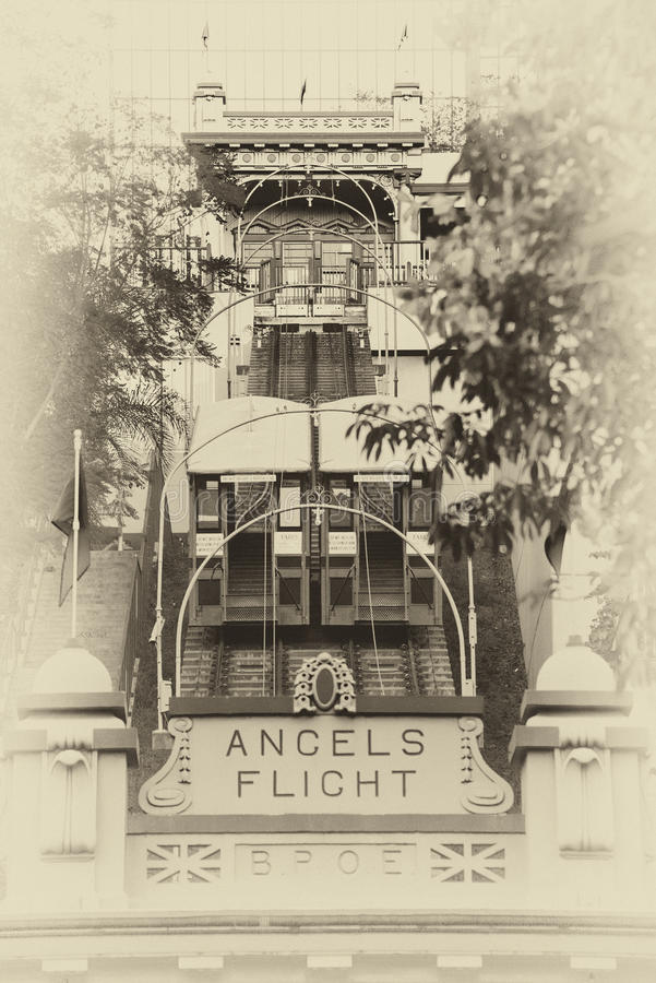 Angels Flight lower station stock image