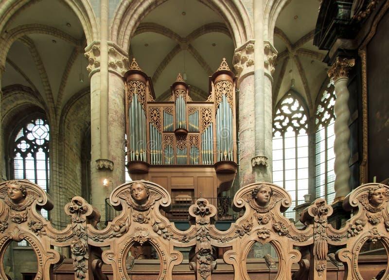 Angels And Great Organ Royalty Free Stock Photos