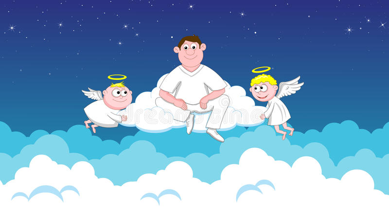 Angels in heaven royalty free stock photos