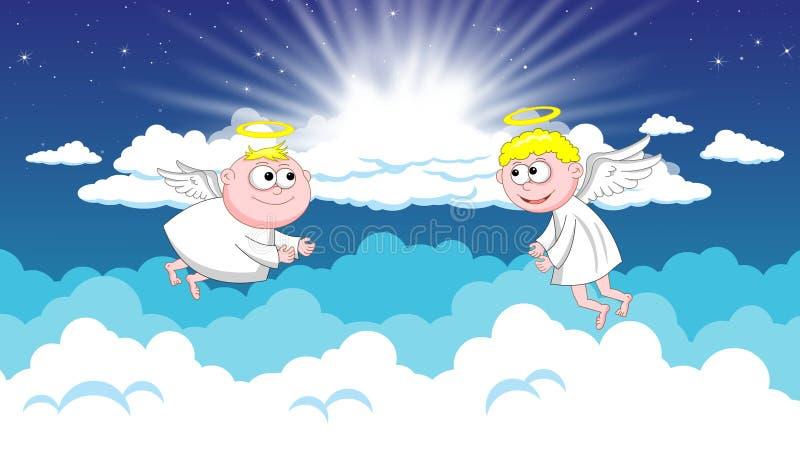 Angels in heaven stock photos