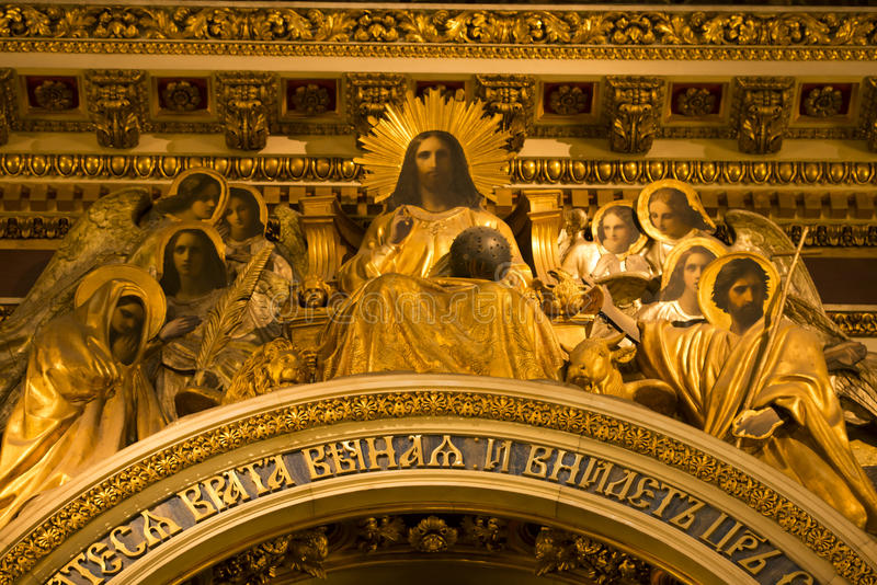 Last Supper - Isaac Cathedral, St. Petersburg royalty free stock photo