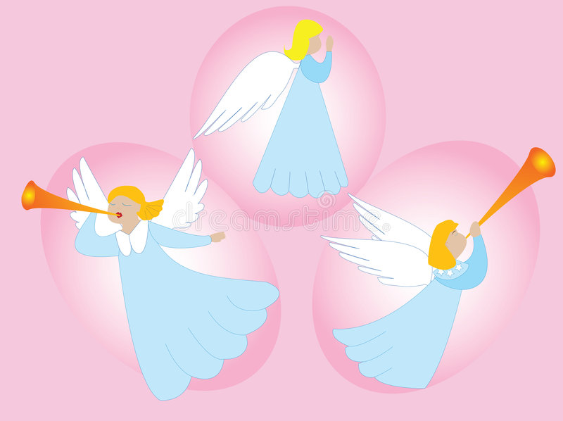 Download Angels making music stock vector. Image of prayer, wings - 1873089