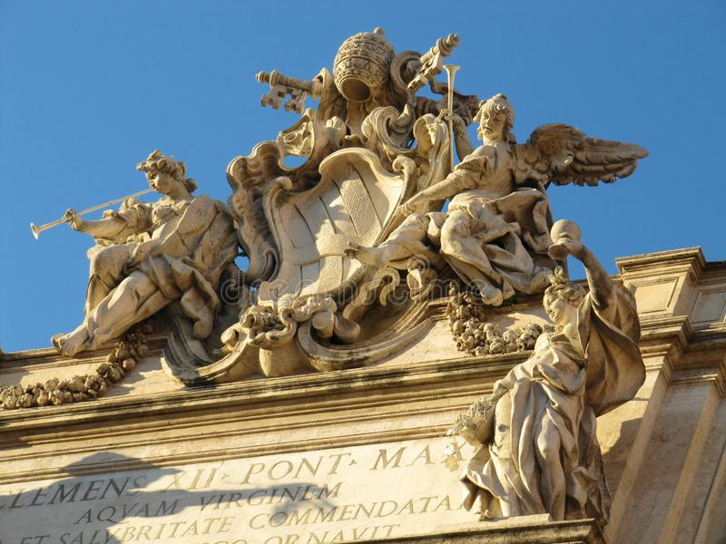Angels out of marble stock photography