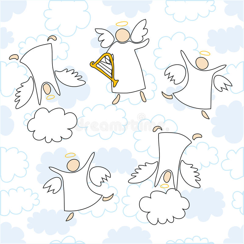Angels Playing And Dancing Royalty Free Stock Images