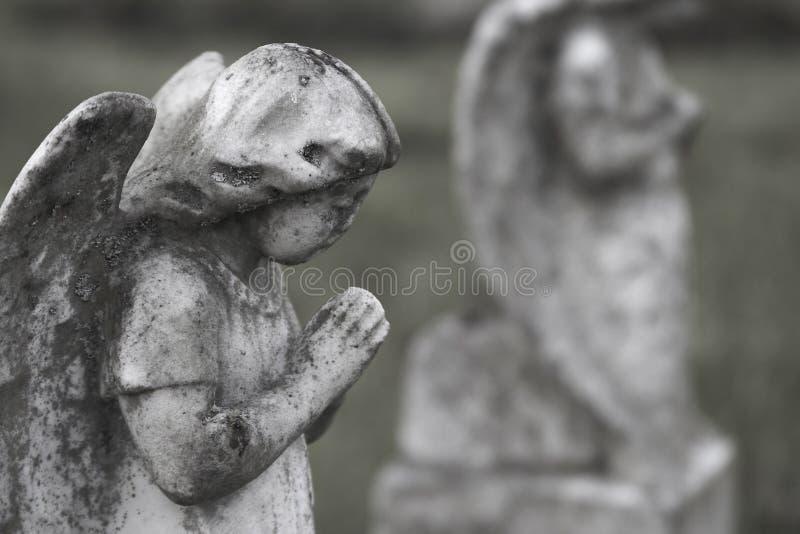 Angels Praying royalty free stock photos