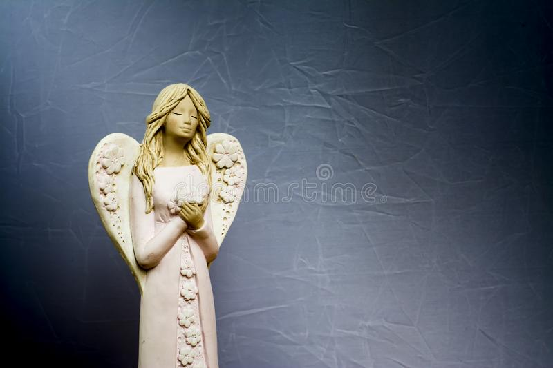 Angels are praying for us. stock photography