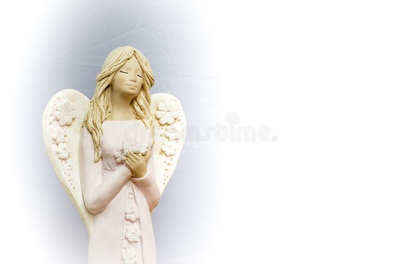 Angels are praying for us. stock image