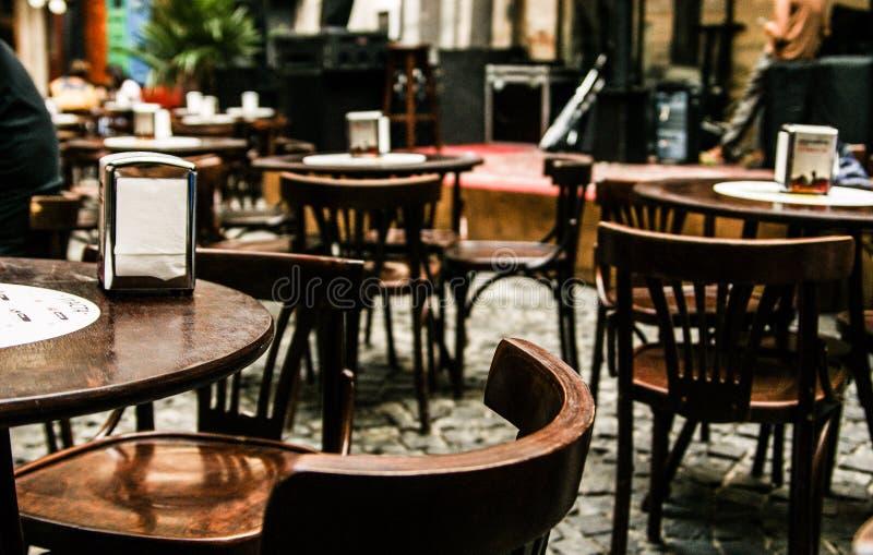 Angenehmes Café in Lvov lizenzfreie stockfotografie