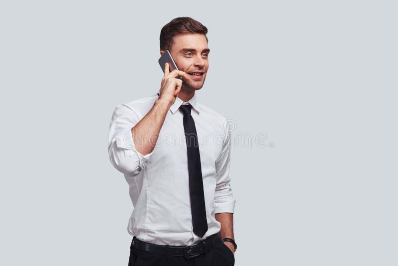 Angenehmes Geschäftsgespräch stockfotos