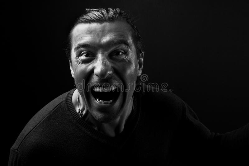 Download Anger stock image. Image of mature, biker, individuality - 10598139