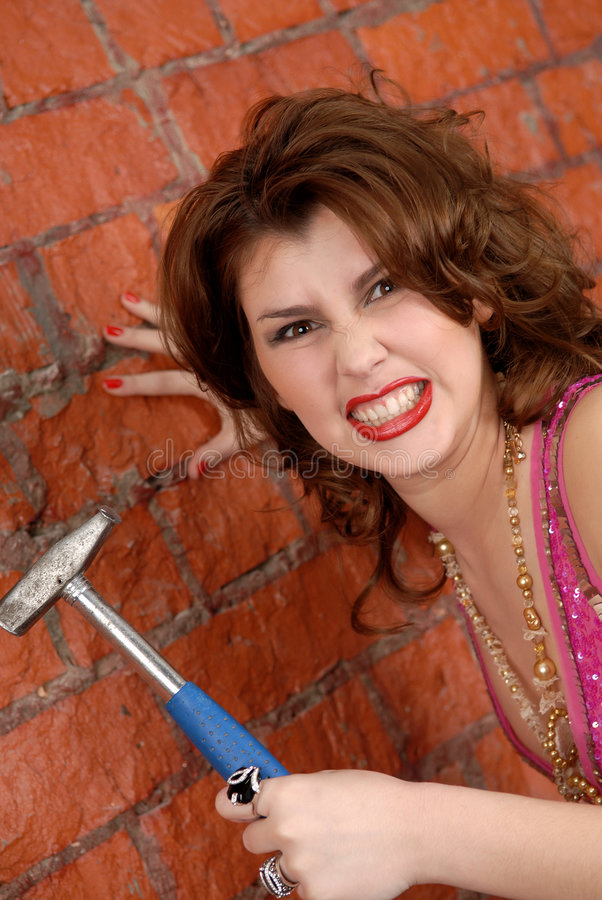 Download Anger and fury stock image. Image of hammer, fashion, woman - 8688463