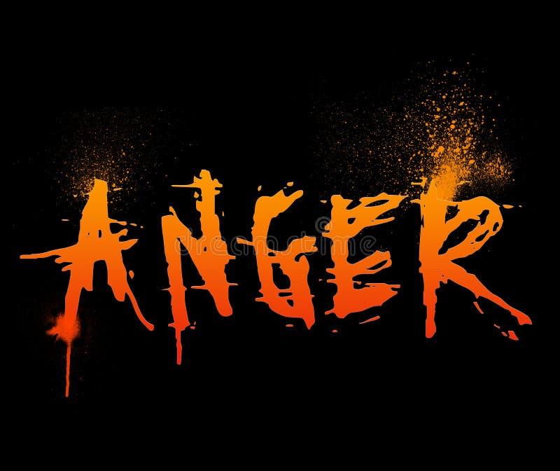 Anger stock illustration