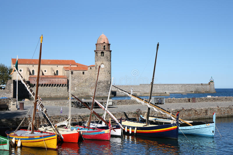 anges βάρκες collioure κυρία des notre στοκ φωτογραφία με δικαίωμα ελεύθερης χρήσης