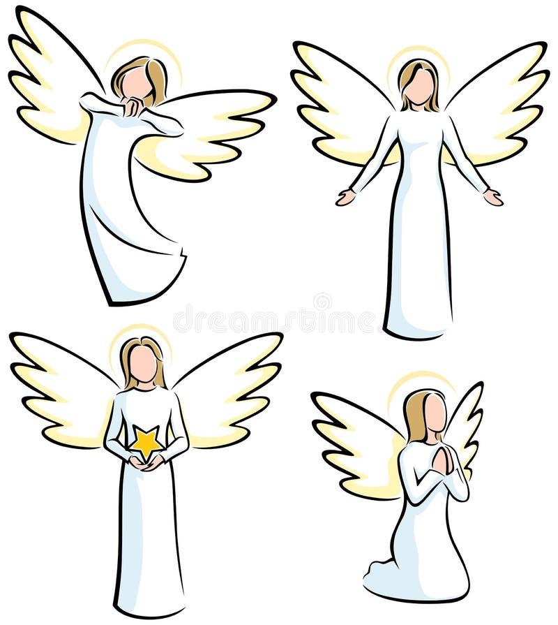 Anges illustration de vecteur