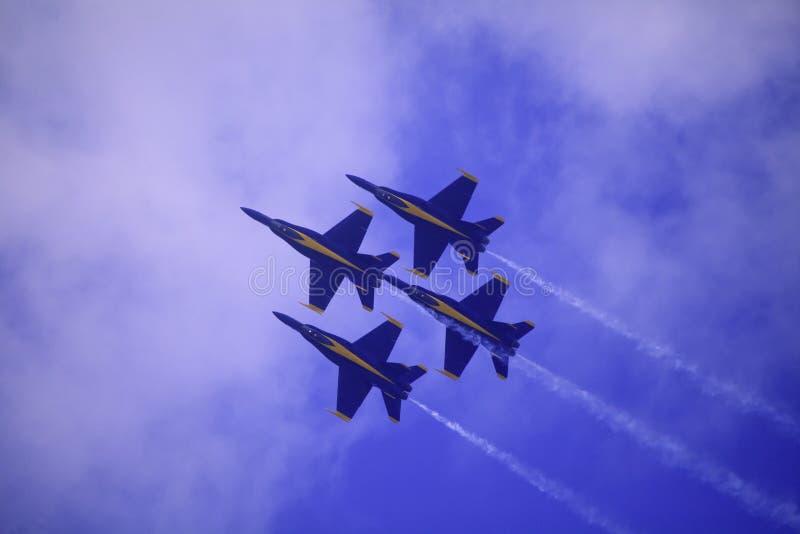 Anges bleus chez Kaneohe Airshow image stock