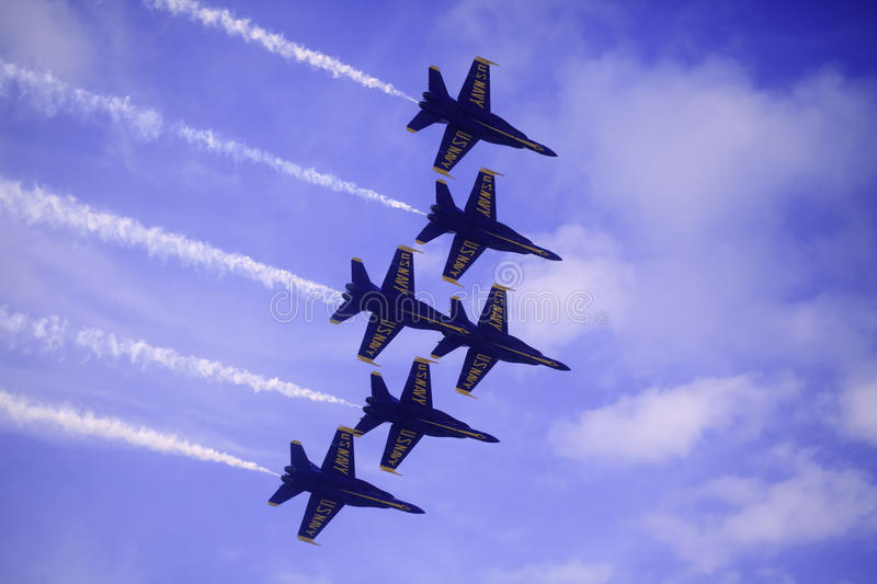 Anges bleus chez Kaneohe Airshow images stock