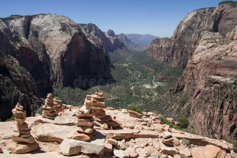 Anges débarquant Zion National Park 7 images libres de droits