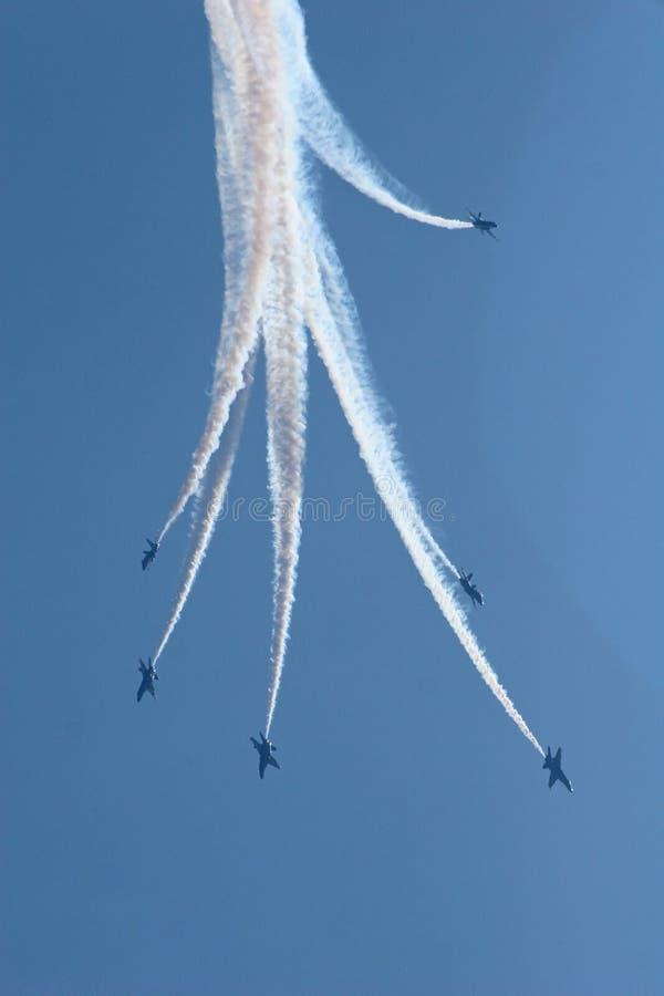 Anges de bleu marine image stock