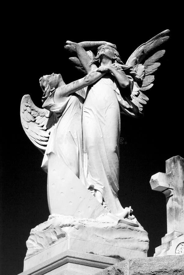 Anges de cimetière images libres de droits
