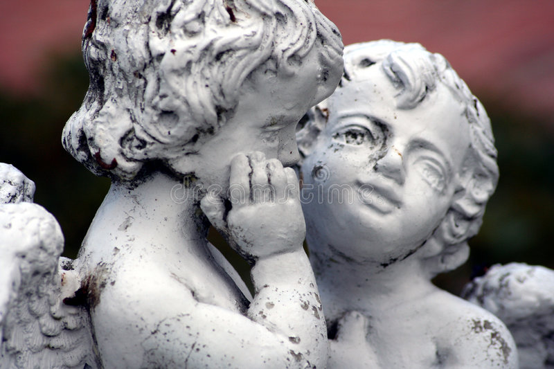 Anges de statue image libre de droits