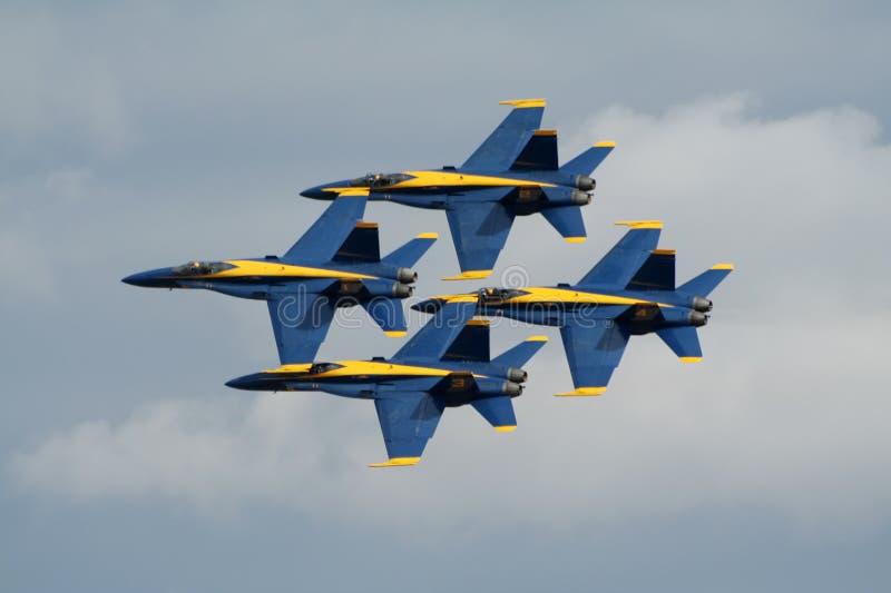 Anges F-18 bleus photo libre de droits