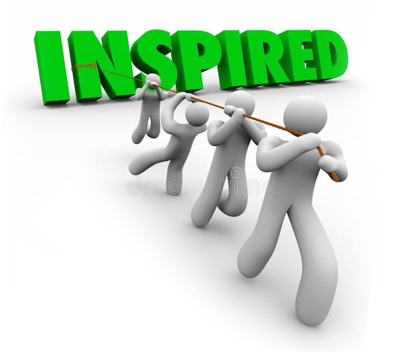 Angespornter motivierter Team Working Together Following Leader vektor abbildung