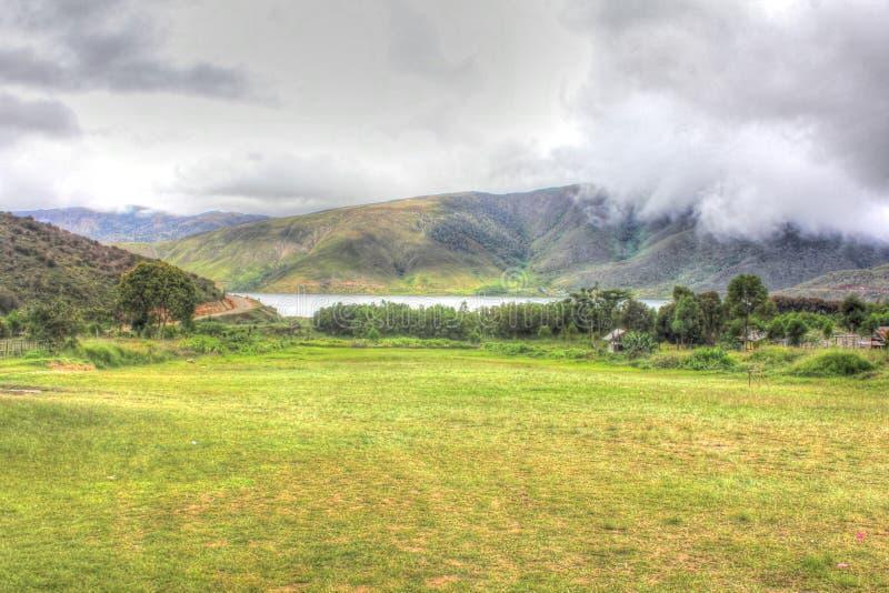 Anggi jezioro przy zachodnim Papua zdjęcia royalty free
