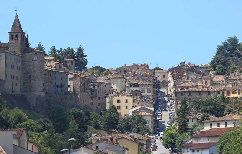 Anghiari toskanki miasteczko obrazy stock